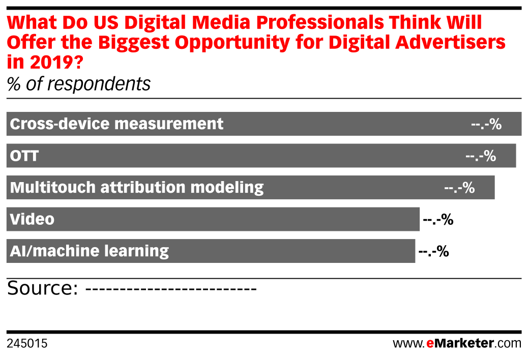 What Do US Digital Media Professionals Think Will Offer the Biggest Opportunity for Digital Advertisers in 2019? (% of respondents)